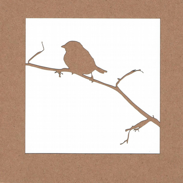 Bird Laser Cut Blank Card