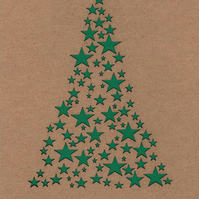 Star Christmas tree card