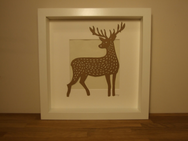 Framed Deer Picture