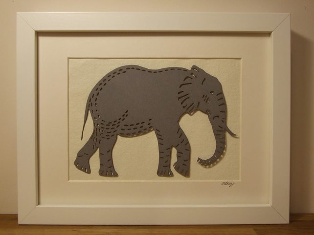 Framed Elephant picture