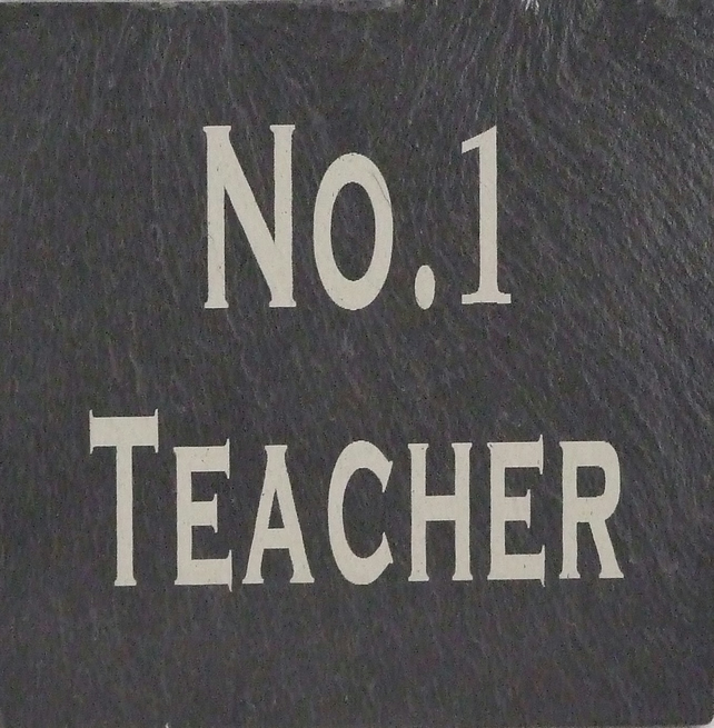 """No 1 Teacher"" Coaster"