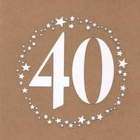 40 stars Birthday Card