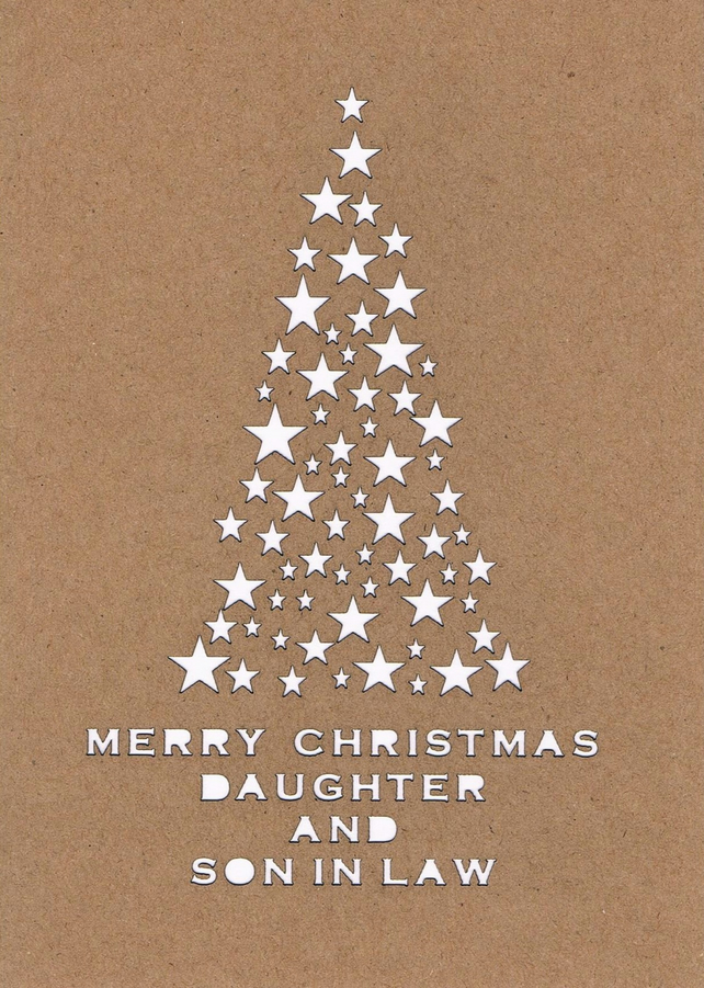 Merry Christmas Daughter and Son in Law card