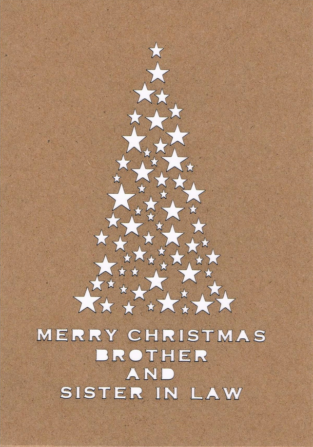 Merry Christmas Brother.Merry Christmas Brother And Sister In Law Card