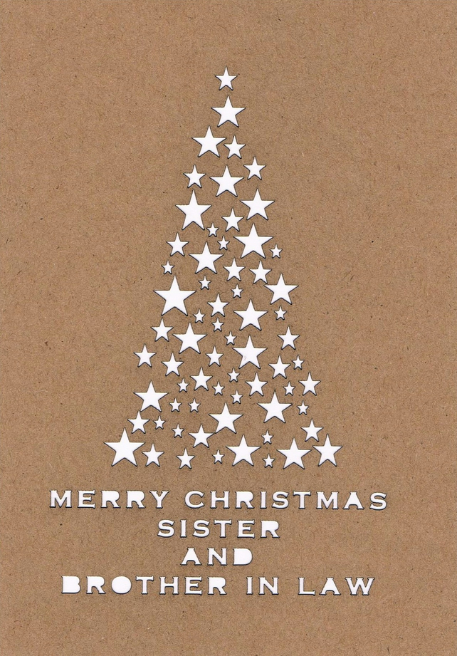 Merry Christmas Sister.Merry Christmas Sister And Brother In Law Card