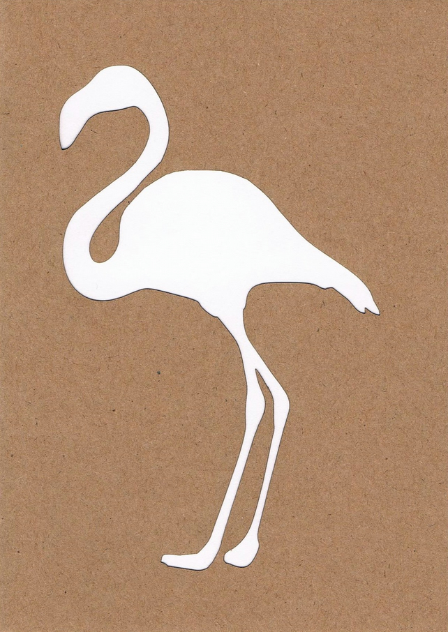 Flamingo card