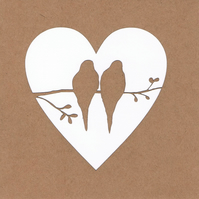 Love birds heart Card