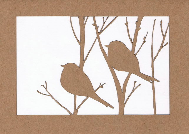 Birds in a tree card