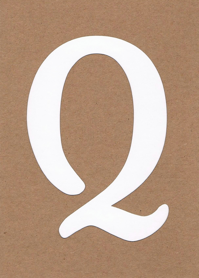 Letter Q card