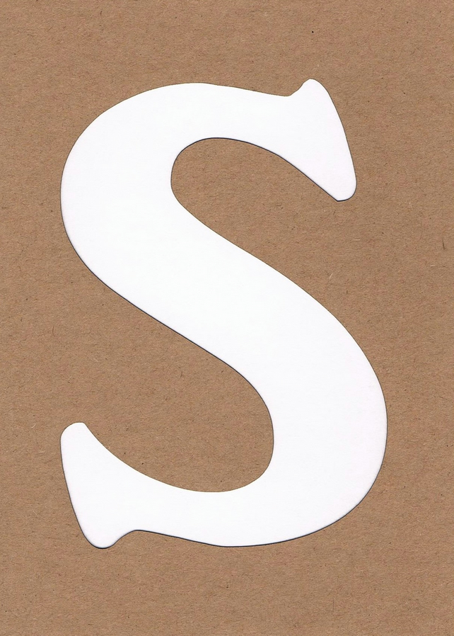 Letter S card