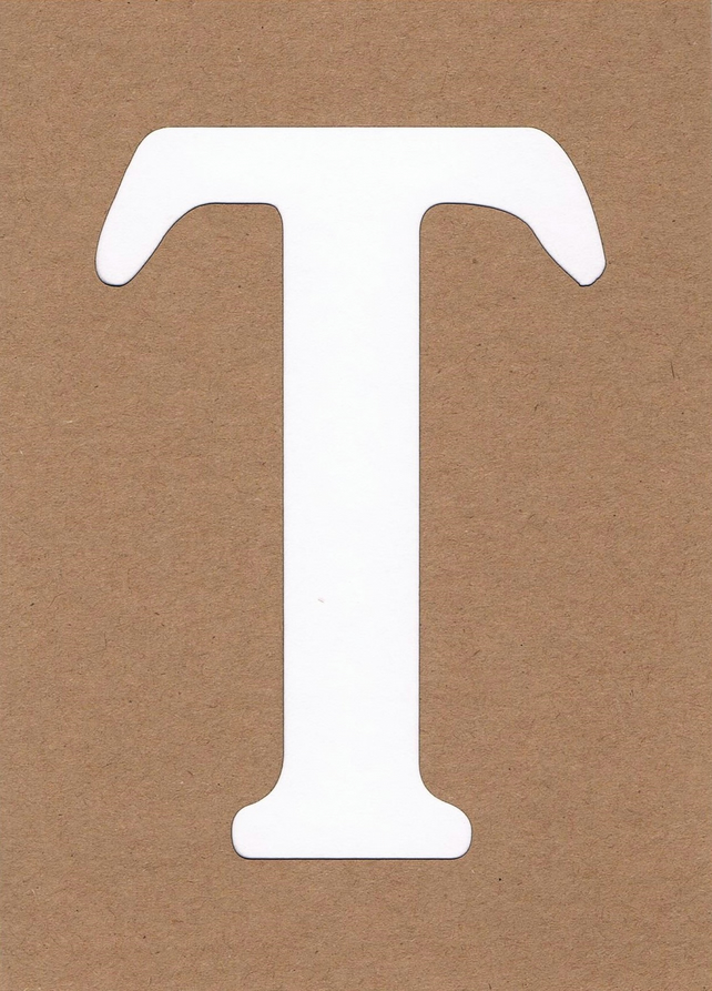 Letter T card