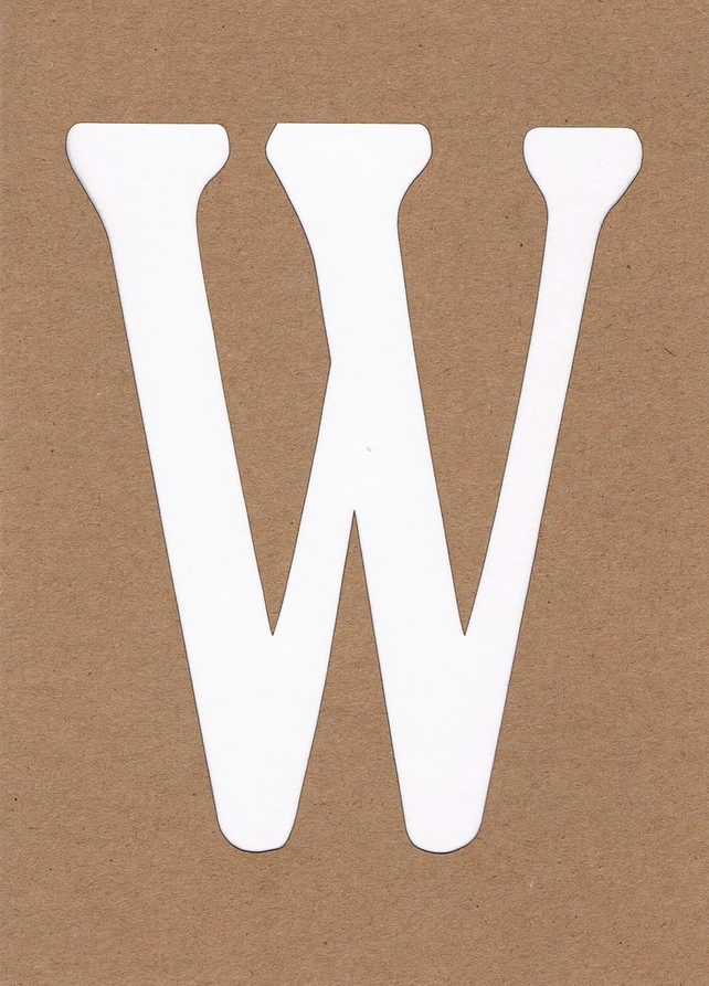 Letter W card