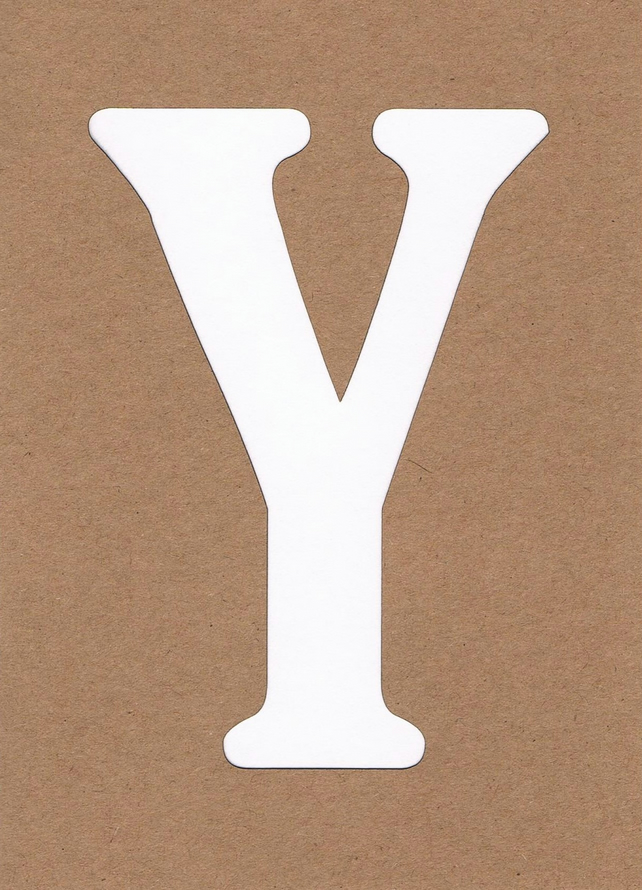 Letter Y card