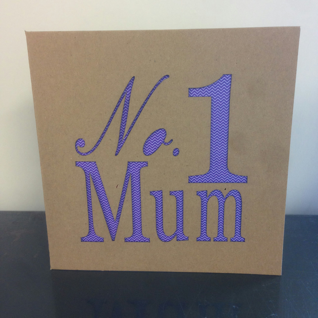 No. 1 Mum Card