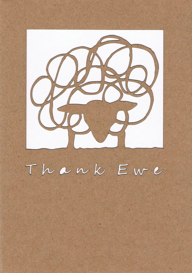 Thank Ewe Sheep card