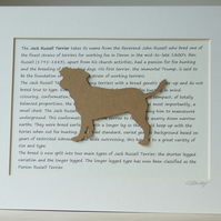 Mounted Jack Russell Terrier Silhouette Dog Picture