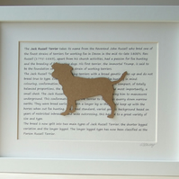 Framed Jack Russell Silhouette Dog Picture