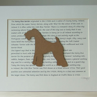 Mounted Kerry Blue Terrier Silhouette Dog Picture