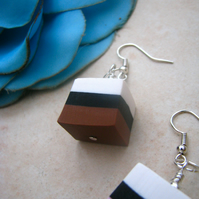 Liquorice Allsorts Polymer Clay Earrings  - SALE!