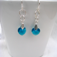 Birthstone Swarovski Crystal Earrings - Colour Choice - Sterling Silver