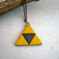 Polymer Clay Triforce Necklace - The Legend of Zelda - Contemporary - SALE!
