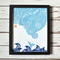 Weather the Storm linocut print