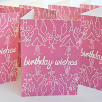 Birthday Wishes Block Printed - Card