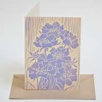 Scabiosa Block Printed - Card