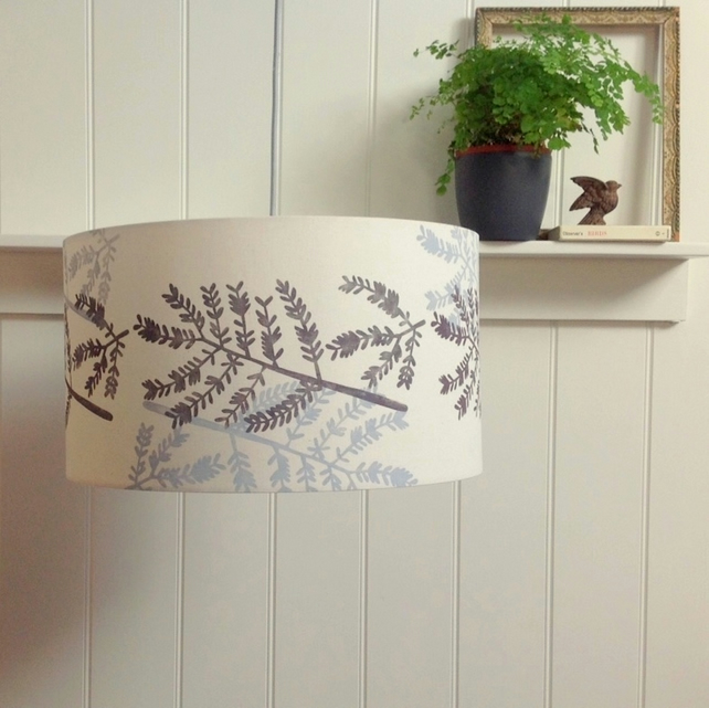 Mimosa Leaf Large Lampshade Drum