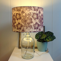 Hellebore Glass Bottle Table Lamp
