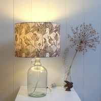 Goldfinches & Teasel Block Printed Lampshade
