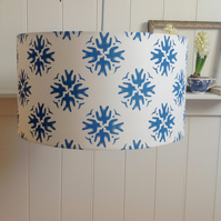 Swallows Block Printed Lampshade