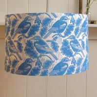Jays & Acorns Block Printed Lampshade