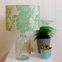 Eucalyptus Glass Bottle Table Lamp