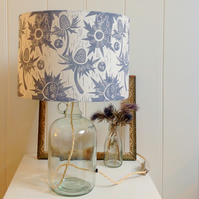 Sea Holly Glass Bottle Table Lamp