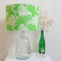 Honesty Green Glass Bottle Table Lamp