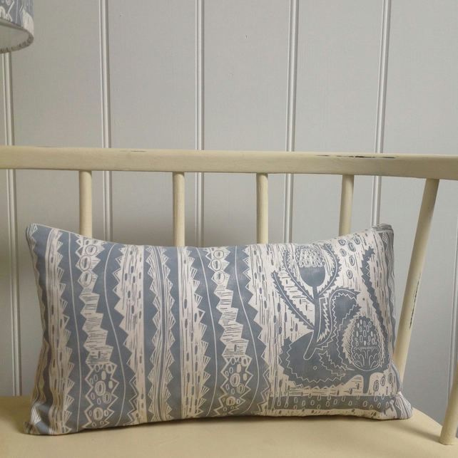 Banksia Block Printed Bolster Cushion