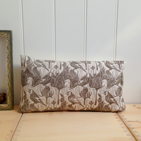 "Goldfinches & Teasel Block Printed 20""x12"" Cushion"