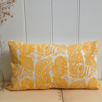 "Queen Anne's Lace Block Printed 20"" x 12"" Cushion"