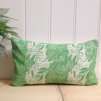 "Eucalyptus Block Printed 20"" x 12"" Cushion"