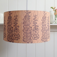 Naturally Dyed & Block Printed Foxglove Lampshade