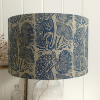 Naturally Dyed & Block Printed Queen Anne's Lace Lampshade