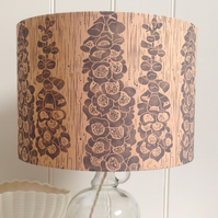 Naturally Dyed & Block Printed Foxglove Lamp