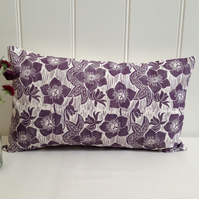 "Hellebore Block Printed 20"" x 12"" Cushion"