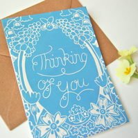 Thinking of You Block Printed - Card