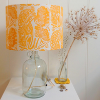 Queen Anne's Lace Glass Bottle Table Lamp