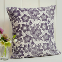 "Hellebore Block Printed 18"" Cushion"