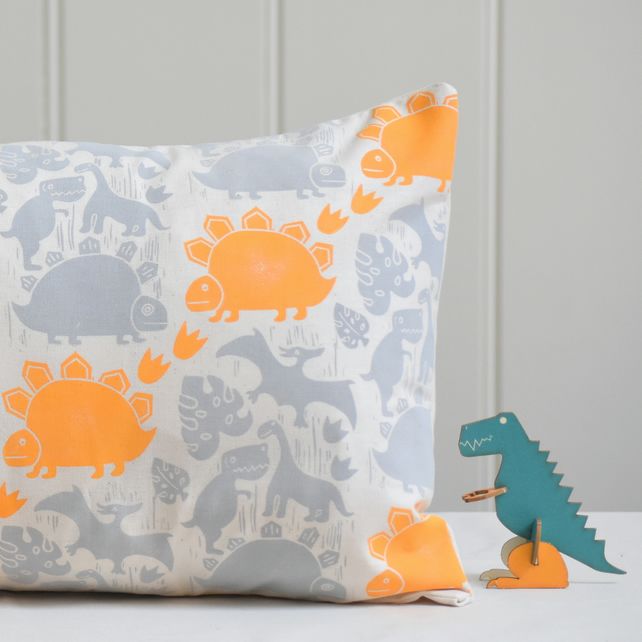 "Saur-Saur Block Printed 20"" x 12"" Cushion"