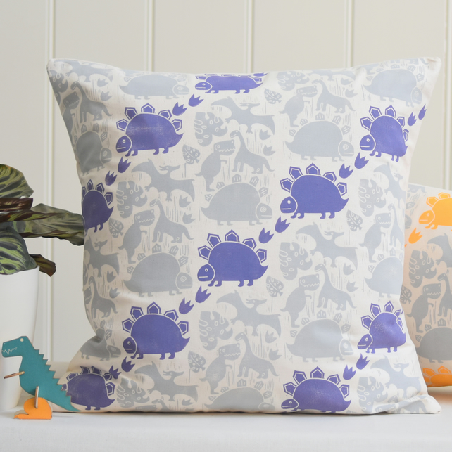 "Saur-Saur Block Printed 18"" Cushion"