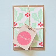 Holly Berry Notelet Bundle